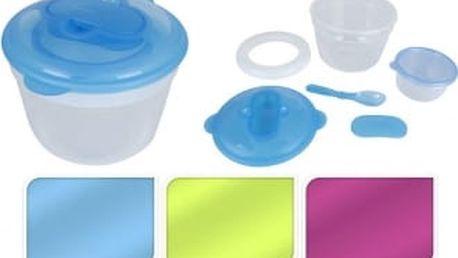 Svačinový box s chladící vložkou sada 2ks, kulatá, modrá ProGarden KO-194599modr