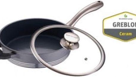 Pánev s keramickým povrchem 24 cm SPECTACULAR šedá BERGNER BG-6785seda
