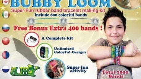 Loom bands gumičky sada BUBBY BOY 1000 ks, stav, kompletní příslušenství BERGNER DV-4