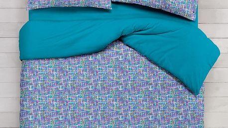 Italské povlečení bavlna LUX Venere tyrkysová