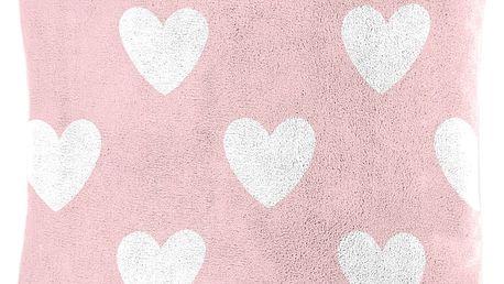 Dětský polštářek beránek Mistral Home Amore pink srdíčka 40x40 cm
