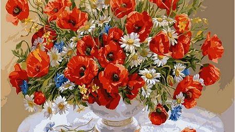 Sada pro malování obrazu - váza s květinami