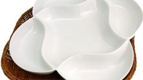 Porcelánová forma v košíku květina 20 x 20 cm WELLBERG WB-10304