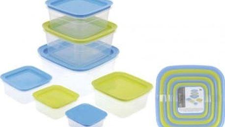 Dóza na potraviny sada 7 ks čtverec EXCELLENT KO-870000120