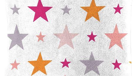 Dětský polštářek beránek Mistral Home Starry sky růžová hvězdičky 40x40 cm