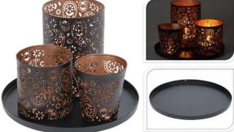 Dekorativní svícen na 3 čajové svíčky pr. 22,5 cmProGarden KO-A04420240