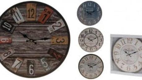 Hodiny nástěnné dřevěné 33,8 cmProGarden KO-971455
