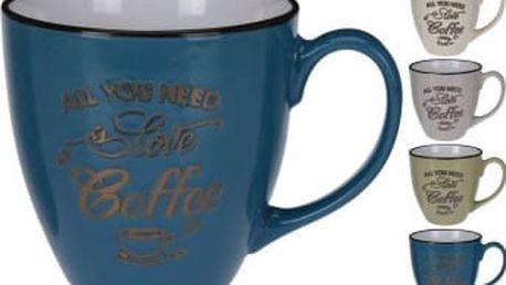 Hrnek keramika 480 ml LOVE COFFEEEXCELLENT KO-DN1800050