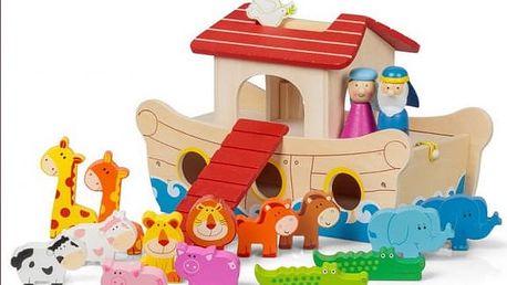 Velká sada dřevěných hraček Noemova archa