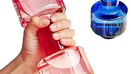 Láhev na vodu v podobě činky - 4 barvy