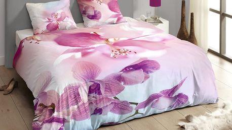 Luxusní saténové povlečení DESCANSO 9260 Olivia 3D květy
