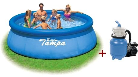 MARIMEX TAMPA 4,57 x 1,22 m KOMPLET bazén, písková filtr., schůdky, podložka, plachta,