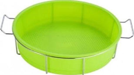 Forma na dort silikonová ve stojanu 25 x 6cm, zelená RENBERG RB-3660zele