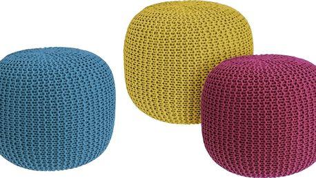 Taburet na sezení z pleteniny průměr 40cm