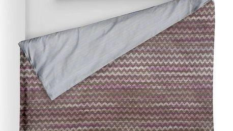 Italské povlečení 100% bavlna LUX Persia fialková