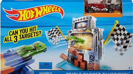 Hot Wheels Závodní dráha - Triple Target Takedown