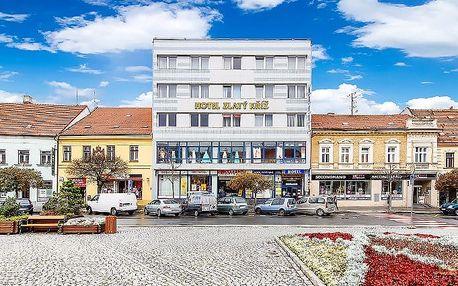 3–5denní pobyt se snídaněmi či polopenzí pro 2 v hotelu Zlatý kříž*** v Třebíči