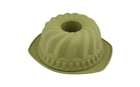 Forma na bábovku silikonová 24 cm, zelená BERGNER BG-4727zele
