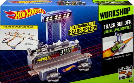 Hot Wheels track builder velký set - Digital Speedometer