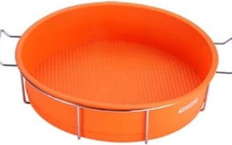 Forma na dort silikonová ve stojanu 25 x 6cm, oranžová RENBERG RB-3660oran