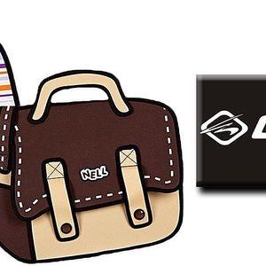 Originální kreslené 2D tašky NELL přes rameno