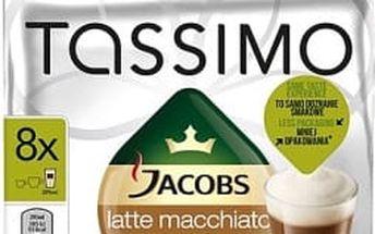 Kávové kapsle Tassimo Jacobs Krönung Latte Macchiato 8+8 kapslí 264g