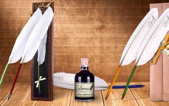 Tradiční husí brka Calamus® v dárkovém balení