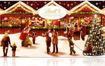 Lindt Adventní kalendář vánoční trh 280g
