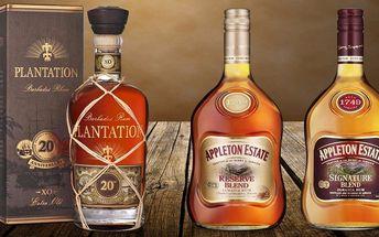 Ochutnejte karibské rumy Appleton a Plantation