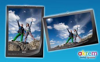 Nástěnný kalendář z vašich vlastních fotografií ve formátu A3 nebo A4