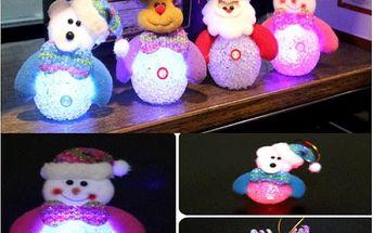 Vánoční postavičky měnící barvu