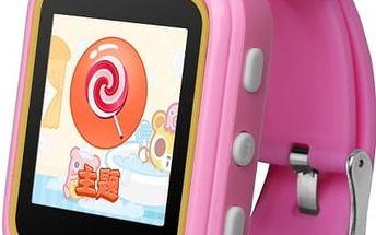 Dětské chytré hodinky s GPS lokátorem - Růžová - poštovné zdarma