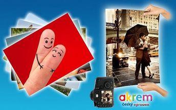 10 velkoformátových fotografií ve formátu A3 nebo A4