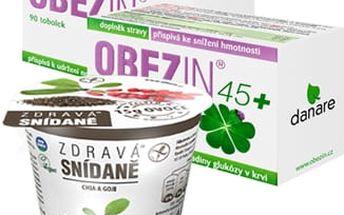 OBEZIN45+ duopack 180 tobolek + Zdravá snídaně od Obezinu ZDARMA