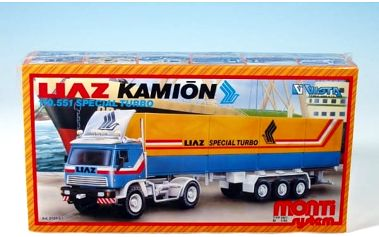 Stavebnice Monti 08/1 Kamión Liaz Special Turbo 1:48 v krabici 31,5x16,5x7,5cm