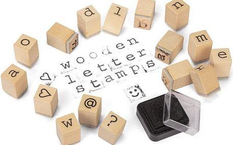 Sada dřevěných razítek s písmenky