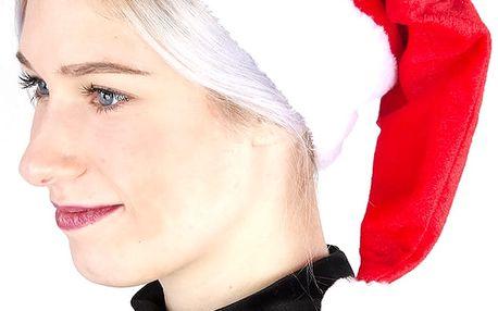 Vánoční čepice PLYŠOVÁ Delux