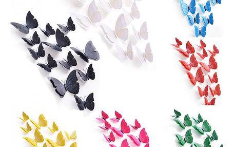 3D samolepka - 12 motýlků