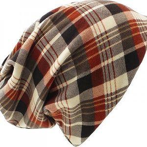 Unisex čepice nebo nákrčník v kostičkovém vzoru