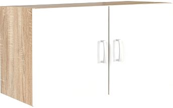 Skříň Tio, barva dubu, bílá 80/43/37,5 cm