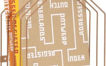 Stojan na časopisy Present Time House Copper