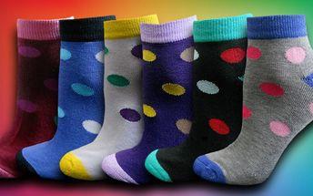 Dámské puntíkované termo ponožky