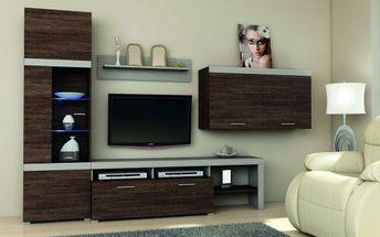 Obývací stěna Soul Ii barvy wenge 300/200/45 cm