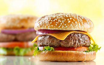 Burger menu pro 1 i 2 osoby v restauraci Dynamo