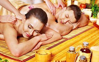 Luxusní párová masáž dle vlastního výběru na 90 minut v lázních Stodolní v Ostravě