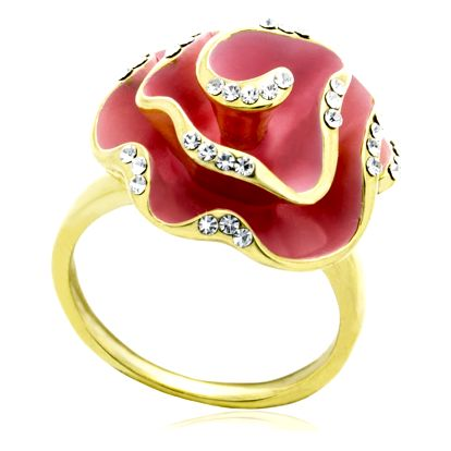 Fashion Icon Prsten růže barevná