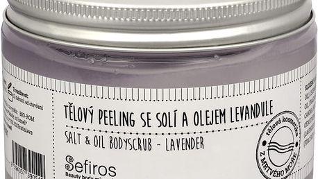 Sefiros Tělový peeling se solí a olejem Levandule (Salt & Oil Bodyscrub) 300 ml + SEFIROS Vzorek kosmetiky z Mrtvého moře