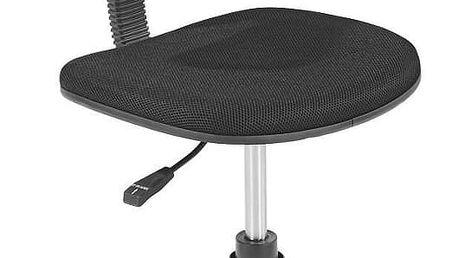 Otočná židle Tom, černá / šedá 41/77-89/48 cm
