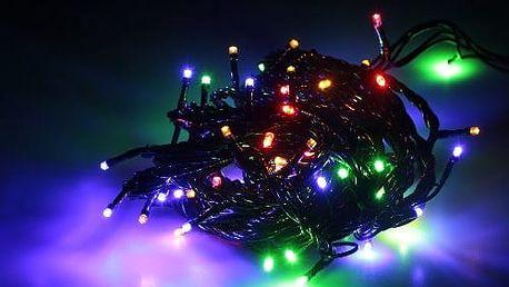 Vánoční světelný řetěz 90 LED 10 m interiérový spojovací