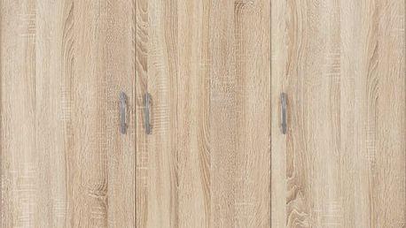 Šatní skříň Base 3, barva dubu 120/177/52 cm